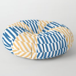 Crossing the lines - the blue and yellow  optical illusion Floor Pillow