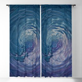 Fall Into Me - Abstract Art by Fluid Nature Blackout Curtain