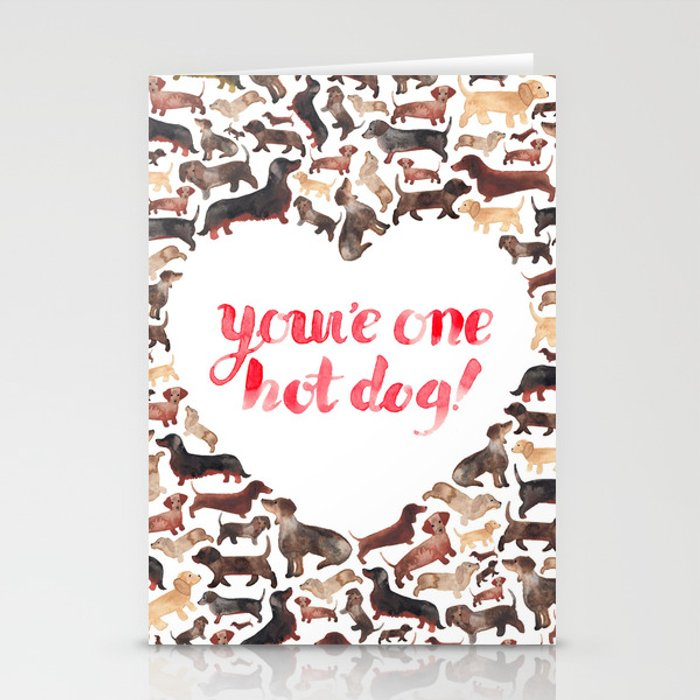 One Hot Dog Stationery Cards