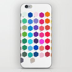 Hexagon Color Chart iPhone & iPod Skin