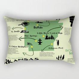 Arkansas National Parks Infographic Map Rectangular Pillow