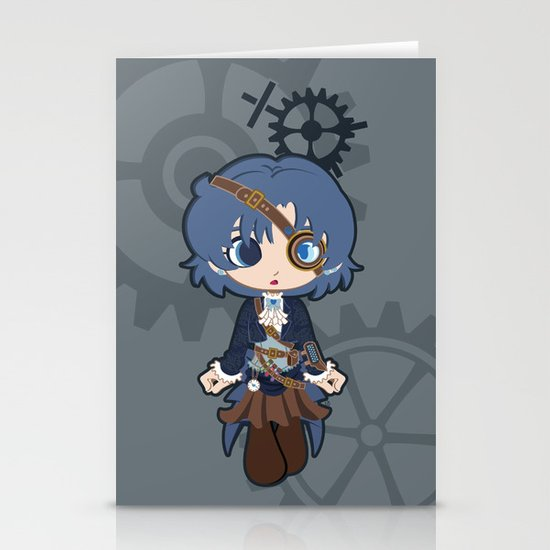Steampunk Sailor Mercury Stationery Cards