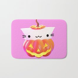 Pumpkin Cat Bath Mat