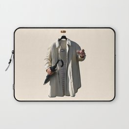 Raincoat of an invisible man with umbrella and watter glass Laptop Sleeve
