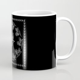 World crows. Crows in different framework, round, square. Coffee Mug