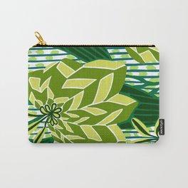 BAYAMO: GREEN SCENE, Art Deco Tropical Carry-All Pouch