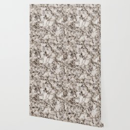 Bronze and Gold Veined Faux Marble Repeat Wallpaper