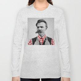 Hipster Nietzsche Long Sleeve T-shirt