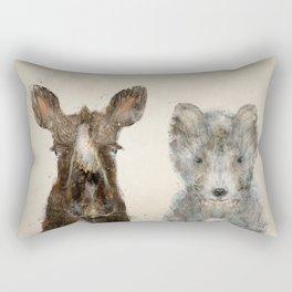 the little wolf and little moose Rectangular Pillow