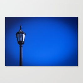 lamp over blue sky Canvas Print