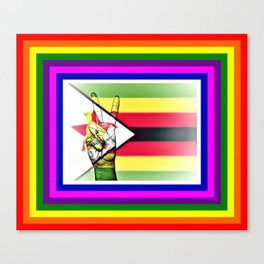 Zimbabwe World Peace Flag Canvas Print