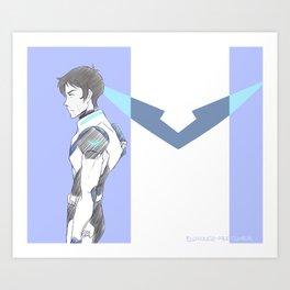 Blue Paladin Lance Art Print