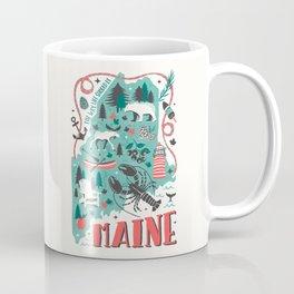 Maine Map Coffee Mug