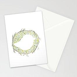 Green Little Bird Nest Stationery Cards
