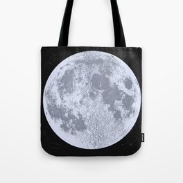 Blue Full Moon Print, by Christy Nyboer Tote Bag
