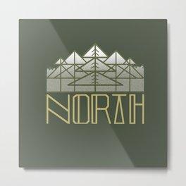 GREEN NORTH Metal Print