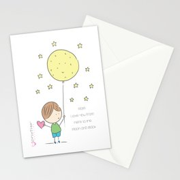 Mother`s Day moon and back Stationery Cards