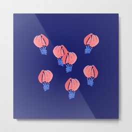 Air Balloons on Midnight Blue Metal Print