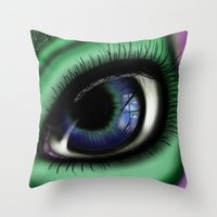transformer Throw Pillows featuring Jaded by ShaylahLeigh
