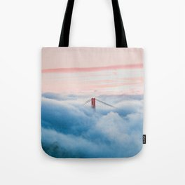 Golden Gate Bridge Above the Clouds Tote Bag