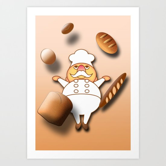 Magical Bakery Art Print