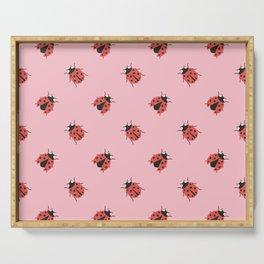 Ladybug Pattern Serving Tray