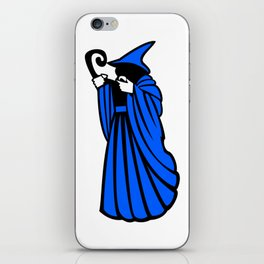 Blue Wizard Clipart iPhone Skin