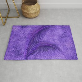 Fern Deep Purple Autumn and Winter Rug