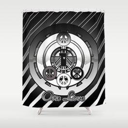 One Love (Black) Shower Curtain