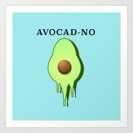 Melting avocado  Art Print