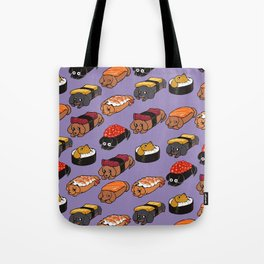 Sushi Daschunds Tote Bag