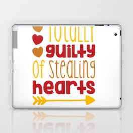 Totally Guilty of Stealing hearts shirt Laptop & iPad Skin