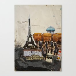 Foucalt in Paris Canvas Print