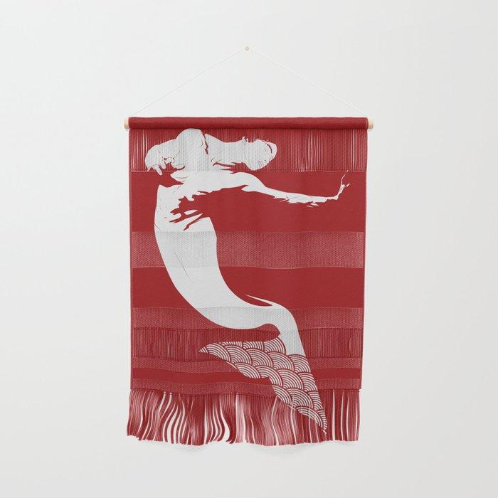 Merman - Red & White - Mermay 2019 Wall Hanging