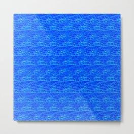 Electric blue Metal Print