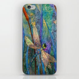 Colorful Dragonflies iPhone Skin
