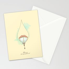 The pen is the tongue of the soul Stationery Cards