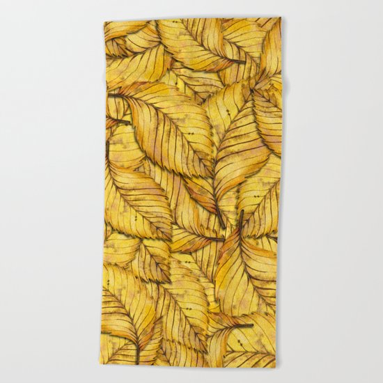 Autumn Leaves 02 Beach Towel