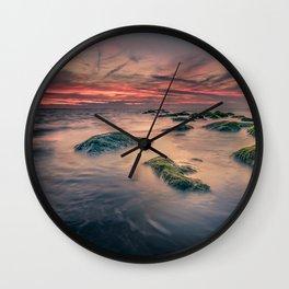 Sunset Ocean Trails Wall Clock