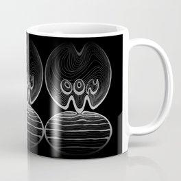 Moon Typography - Black and greys Coffee Mug