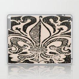 Distressed Fleur-de-Lis Laptop & iPad Skin