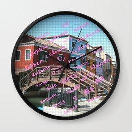 Burano 3 pink Wall Clock