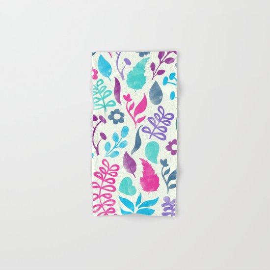 Watercolor Floral Pattern III Hand & Bath Towel