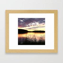 Sunset By The Lake  Framed Art Print
