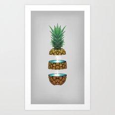 Pineapple Space Art Print