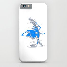 Blue Sonic  iPhone Case
