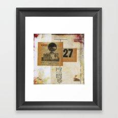Twenty Seven Framed Art Print