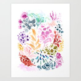 cornelia. watercolor florals. Art Print