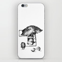 Funy Mushroom Mother Breastfeeding Her Newborn Daughter After Exiting The Egg Grphc iPhone Skin