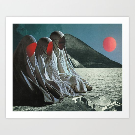 """The Sisters of Mercy"" Martin Carri Collaboration Art Print"